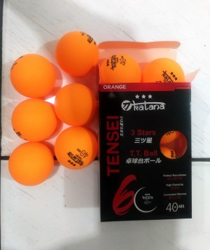 Harga bola pingpong bola tenis meja katana 40 abs 3star isi 6 murah | HARGALOKA.COM