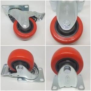 Info Roda Pu Merah Double Bearing Medium Duty Caster Taiwan Plat 4 34 Hidup Katalog.or.id