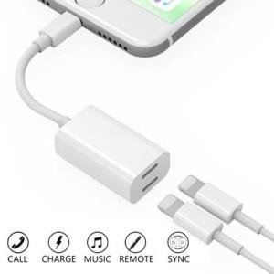 Harga kabel splittle lightning audio charger iphone x 7 7 8 8   | HARGALOKA.COM