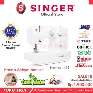 Harga mesin jahit singer 1412 promise bonus portable multifungsi   HARGALOKA.COM