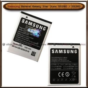 Harga baterai samsung galaxy star duos s5280 s5282 original batre batrai | HARGALOKA.COM