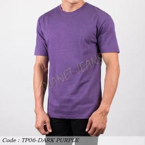 Harga baju kaus polos cowok polosan oneck pria seri warna misty ungu | HARGALOKA.COM