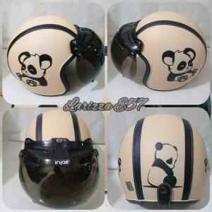 Harga helm bogo retro dewasa motif panda   HARGALOKA.COM