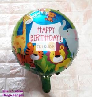 Harga balon foil bulat hbd animal safari | HARGALOKA.COM