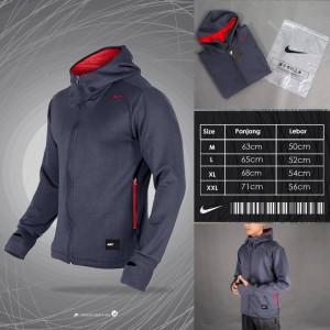 Harga nike training jacket thumbhole grey   jaket terbaru  jaket termurah     HARGALOKA.COM