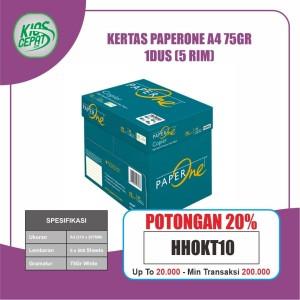 Harga khusus gojek grab kertas paperone a4 75gr 1dus 5 | HARGALOKA.COM