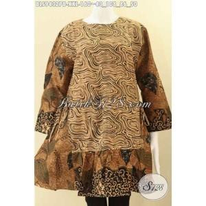 Harga blouse batik wanita gemuk modis resleting belakang size xxl | HARGALOKA.COM