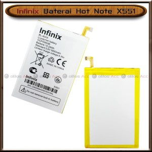 Harga baterai infinix hot note x551 bl40ax bl 40ax double power batre | HARGALOKA.COM