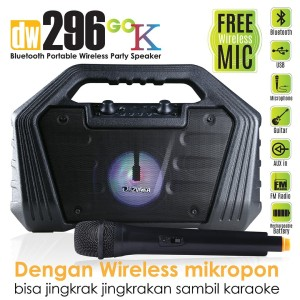 Harga dazumba dw296 go k portable karaoke bluetooth speaker mic | HARGALOKA.COM