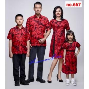 Harga 667 couple batik keluarga dewasa m xl anak 2 thn   5 thn | HARGALOKA.COM