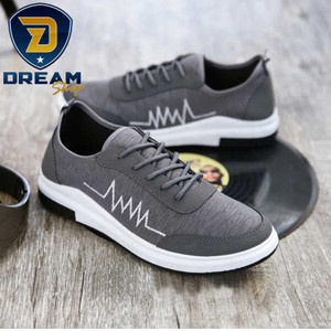 Harga sepatu sneakers alfa pria kasual import thundervolt v385   grey   abu abu | HARGALOKA.COM