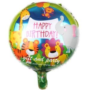 Harga balon foil bulat jungle balon karakter hewan balon animal | HARGALOKA.COM