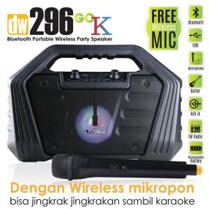 Harga speaker karaoke 1 mic portable bluetooth dazumba dw296   | HARGALOKA.COM