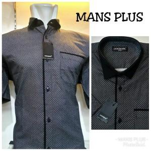 Harga kemeja besar pria bigsize jumbo xxl xxxl baju hem casual formal q70   hitam | HARGALOKA.COM