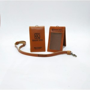 Harga name tag gantung id card holder kulit asli logo bri   HARGALOKA.COM