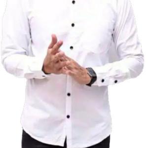 Harga turun harga kemeja slimfit murah mantap   putih | HARGALOKA.COM