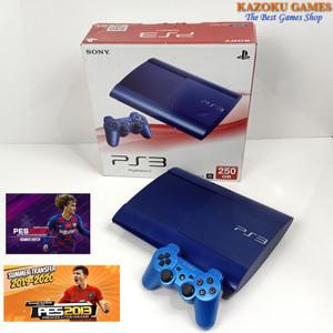 Harga ps3 ps 3 sony playstation 3 super slim blue 250 gb seri dus tembus   1 stick   HARGALOKA.COM