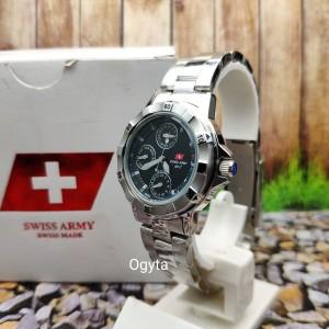 Harga swiss army analog jam tangan wanita strap rantai silver 2367l | HARGALOKA.COM