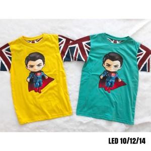 Harga kaos anak cowok model bagus motif baru led nyala lampu superman   kuning   HARGALOKA.COM