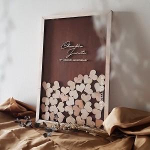 Harga Guest Book Frame 40x60 Buku Tamu Kayu Wedding Decoration Katalog.or.id