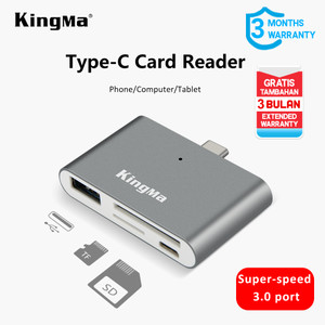 Harga usb type c card reader 3 in 1 for phone computer tablet apple usb 3 | HARGALOKA.COM