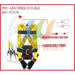Harga full body harness absorber pro double big hook safety belt merk   HARGALOKA.COM