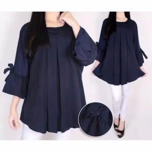 Harga binx blouse wanita big size plain blouse baju jumbo erlinda   | HARGALOKA.COM