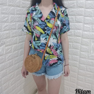 Harga mona kemeja pastel original bahan katun rayon hawai cewe cewek   | HARGALOKA.COM