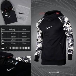Harga nk training raglan hoodie black x camouflage   jaket training nike   hitam   HARGALOKA.COM