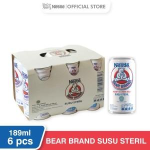 Harga nestle bear brand susu sapi sapi steril siap minum kaleng 189ml 6 | HARGALOKA.COM