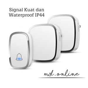 Harga bel rumah wireless door bell waterproof pintu 2 | HARGALOKA.COM