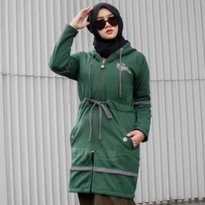 Harga jaket jacket panjang muslimah wanita cewek hijaber hijacket aur alpine   | HARGALOKA.COM