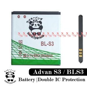 Harga baterai advan vandroid bls3 bl s3 rakkipanda double power | HARGALOKA.COM