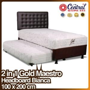 Harga spring bed central gold sorong 2 in 1   bianca   100 x 200 | HARGALOKA.COM