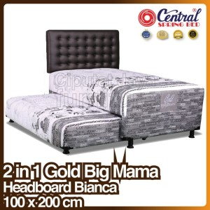 Harga spring bed central gold big mama 2 in 1   bianca   100 x 200 | HARGALOKA.COM