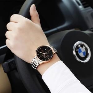 Harga man watch original guanqin jam tangan pria analog   silver   HARGALOKA.COM