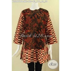 Harga atasan batik wanita gemuk model lengan 7 8 2 motif size xxl | HARGALOKA.COM