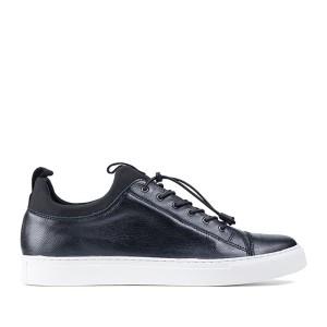 Harga ftale footwear   adrian black sepatu sneakers pria murah     HARGALOKA.COM