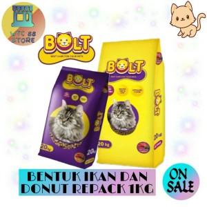 Harga makanan kucing bolt repack 1kg murah tuna cat food murah   bolt   HARGALOKA.COM