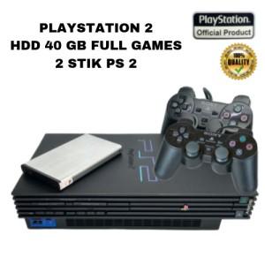 Harga promo ps2 playstation 2 matrix console black ps 2 harddisk 60   HARGALOKA.COM