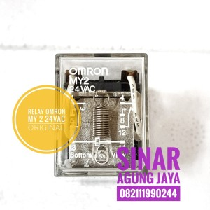 Harga relay omron my2 24vac 5ampere original 8pin my 2 24   HARGALOKA.COM