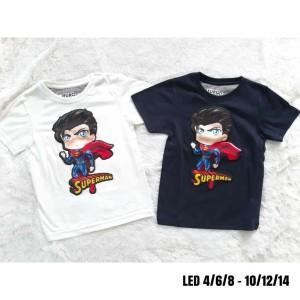 Harga kaos anak cowok model bagus motif baru led nyala lampu superman   HARGALOKA.COM