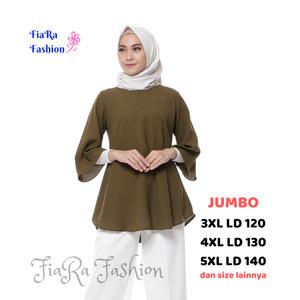 Harga atasan wanita baju kantor baju santai   maroon | HARGALOKA.COM