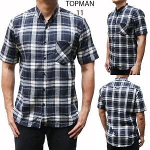Harga kemeja pria cowok import topman 11 navy kotak   baju kerja   HARGALOKA.COM