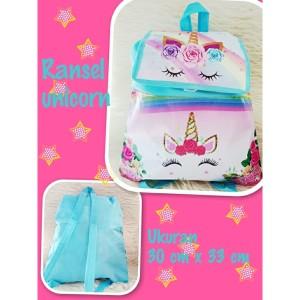 Harga souvenir ulang tahun tas ransel unicorn   merah | HARGALOKA.COM