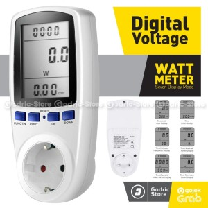 Harga watt meter ac kwh voltmeter pengukur power daya listrik ukur biaya   HARGALOKA.COM