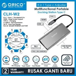 Harga type c to usb 3 hub pd 4k hdmi gigabit tf sd card reader orico | HARGALOKA.COM