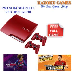 Harga ps3 slim scarlet red 320gb 2 stick full | HARGALOKA.COM
