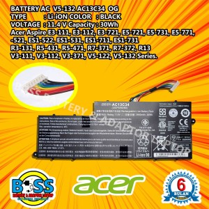 Harga baterai 100 internal original acer ac13c34 for laptop series | HARGALOKA.COM