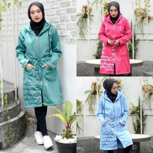 Harga jaket jacket panjang wanita cewek hijaber muslimah hijacket ub 3   hijau turkish | HARGALOKA.COM